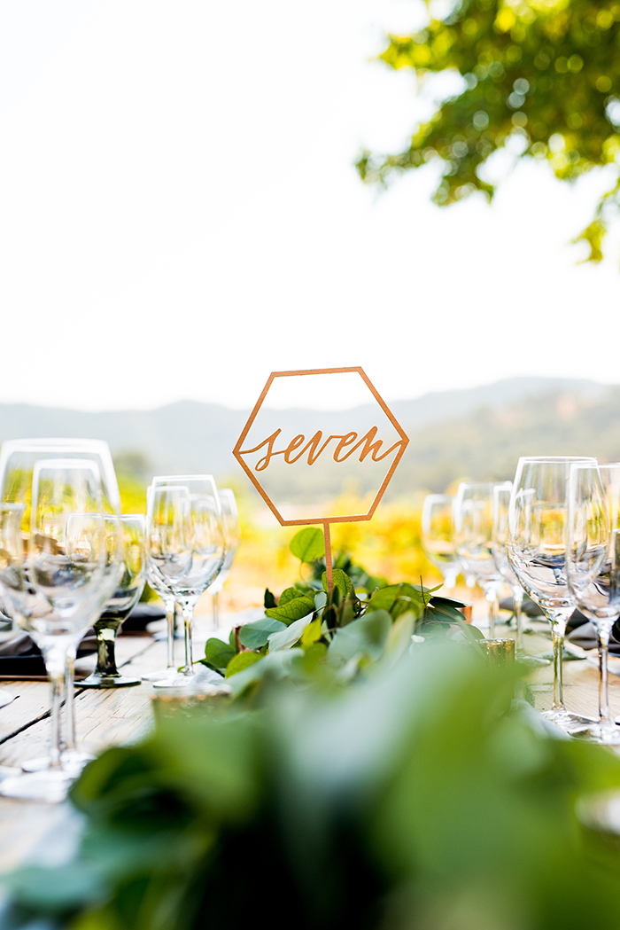 Modern Gold Geometric Wedding Decor