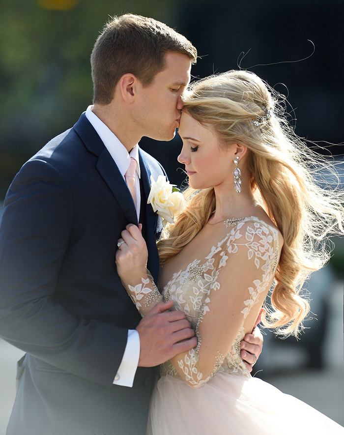 Fairy Tale Real Wedding with Romantic Glam Bridal Style
