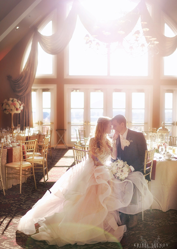 Elegant Wedding Reception Photos with the Bride and Groom