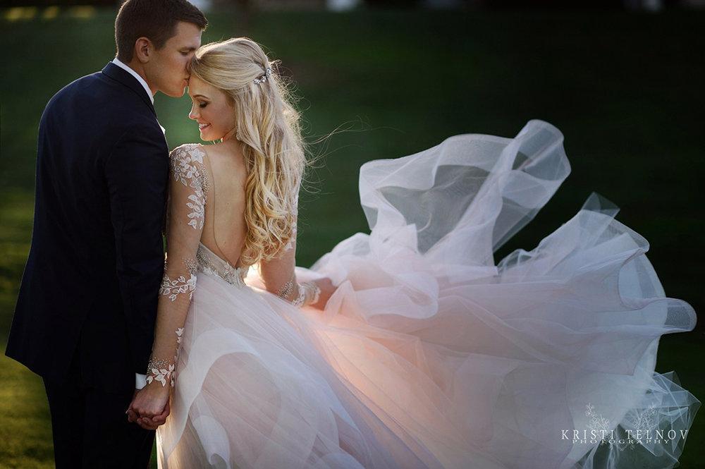 Enchanting Fairy Tale Wedding Photos with a Pink Wedding Dress
