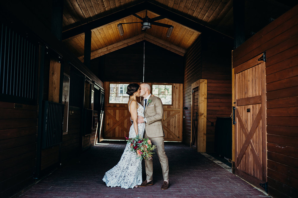 Rustic Elegant Barn Wedding with a Nude Lace Dress