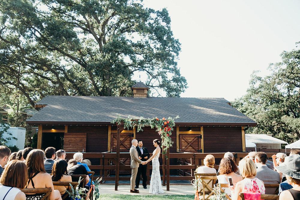 Rustic Autumn Barn Wedding Ceremony