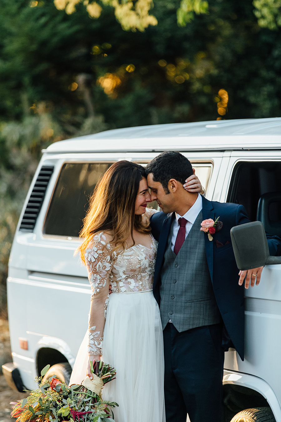 Bohemian Glam Wedding Day in California with the Hayley Paige Remmington Dress from Haute Bride