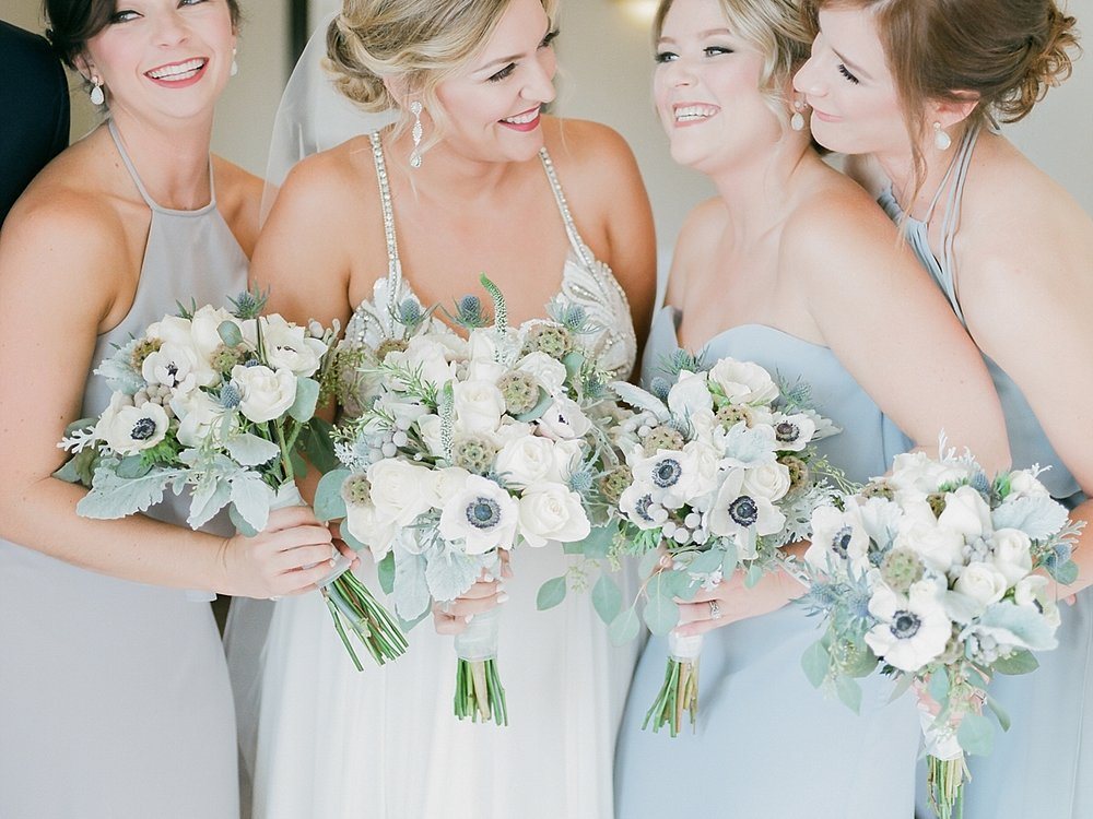 Silver, Gray, and White Bridal Party