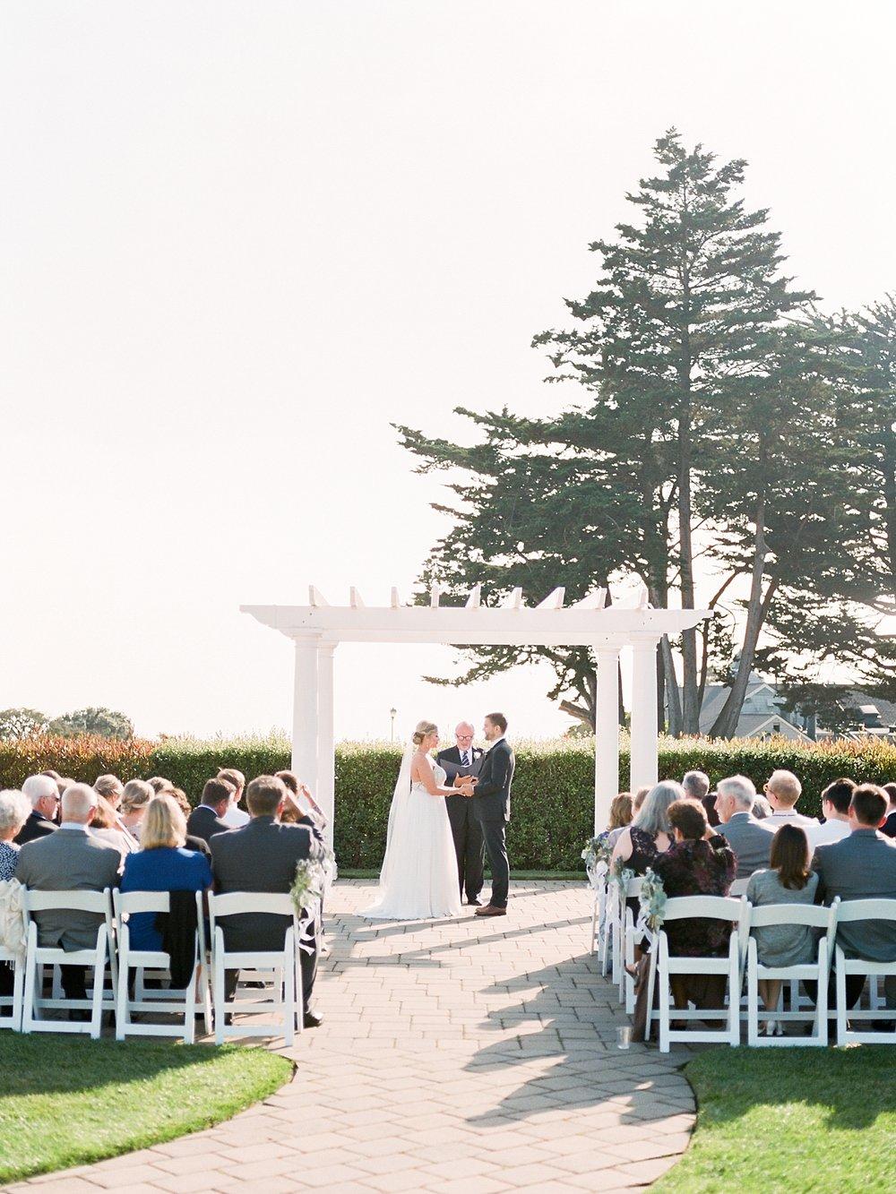Romantic Coastal Wedding Ceremony in Half Moon Bay