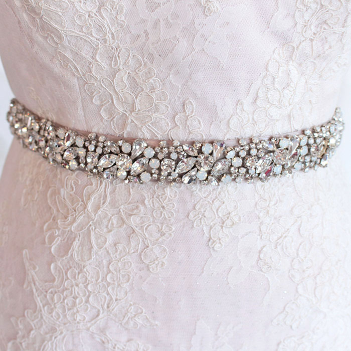 Haute Bride Crystal Wedding Dress Sash