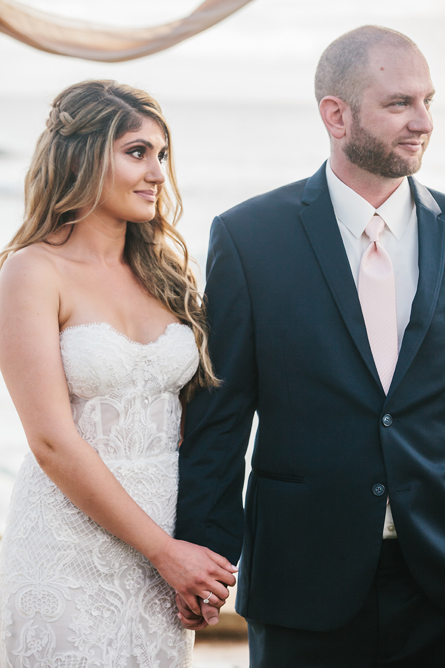 Destination Wedding Ceremony in Hawaii with a Made With Love Bridal Wedding Dress