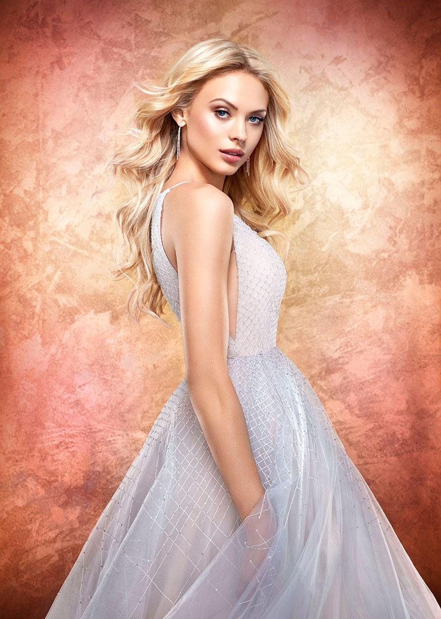 Iridescent Pastel Wedding Dress from Hayley Paige at Haute Bride