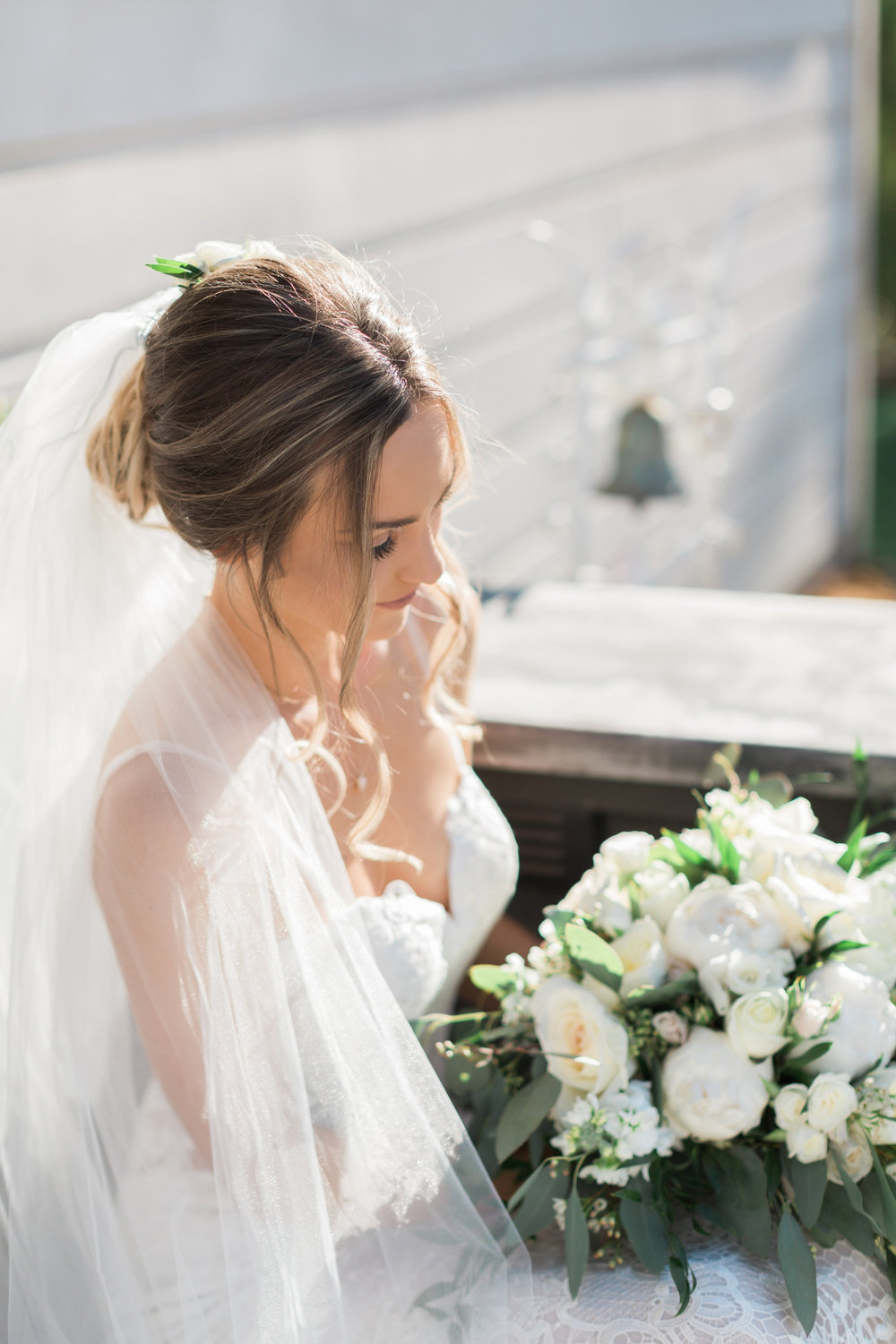 Stunning Bridal Hairstyle with the Made With Love Danni Wedding Dress from Haute Bride