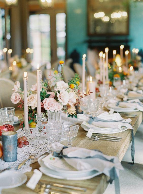 Elegant Farmhouse Wedding Reception