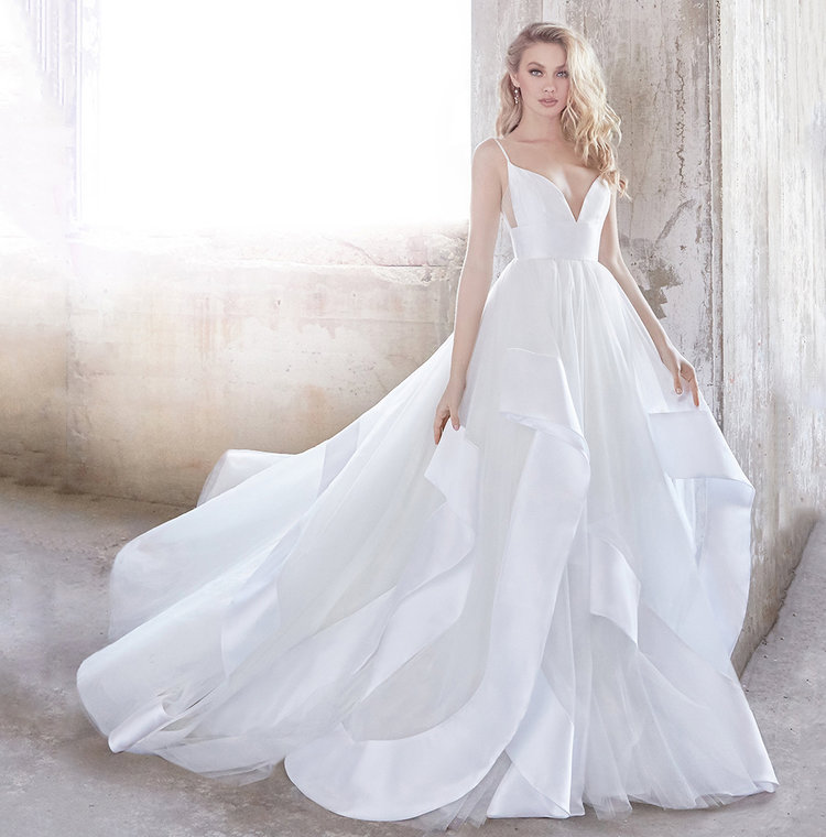 Wedding dress designers at haute bride san francisco bay area hayley paige andi modern ball gown junglespirit Gallery