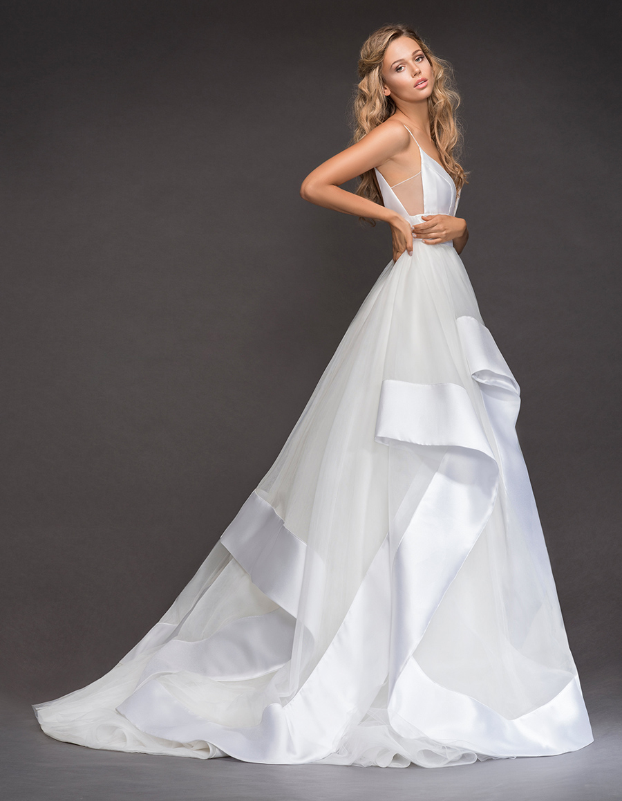 Andi by Hayley Paige - Mikado Satin and Tulle Layered Bridal Gown