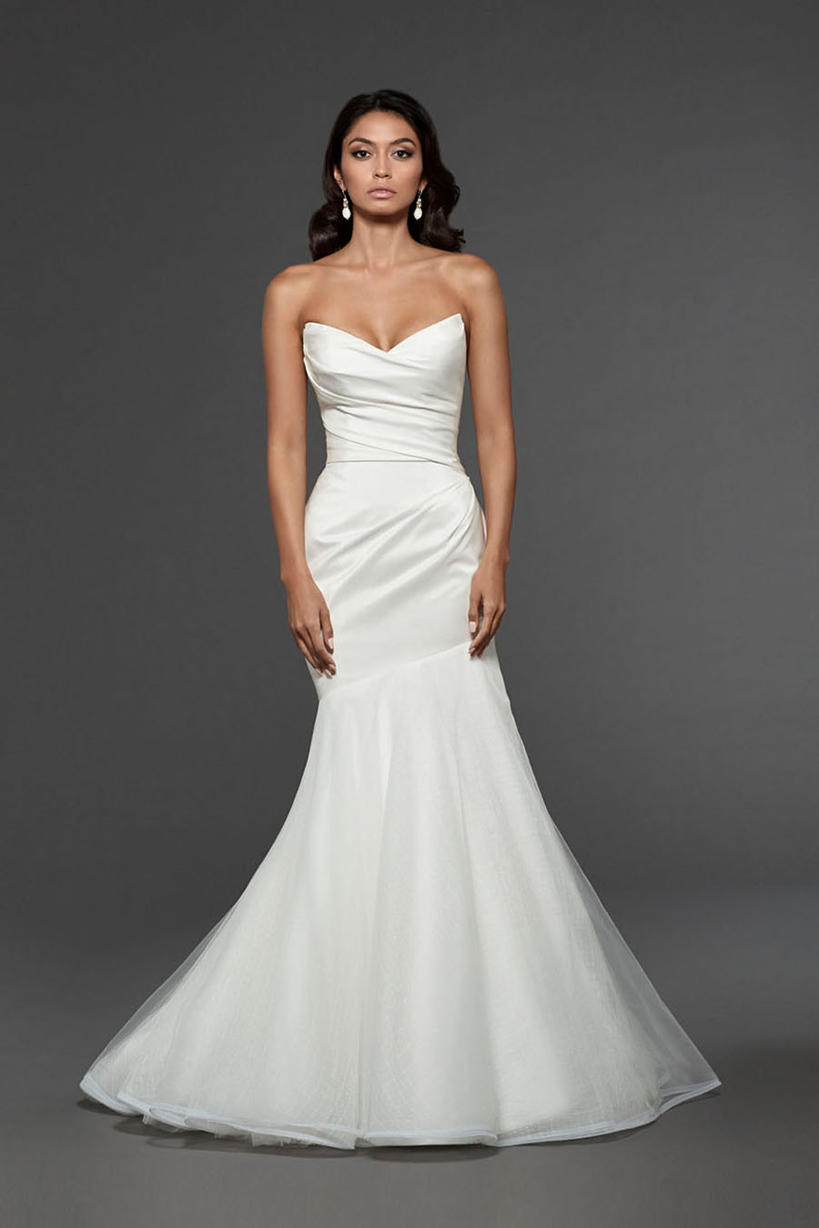Wavy with Tulle Mermaid Wedding Dress