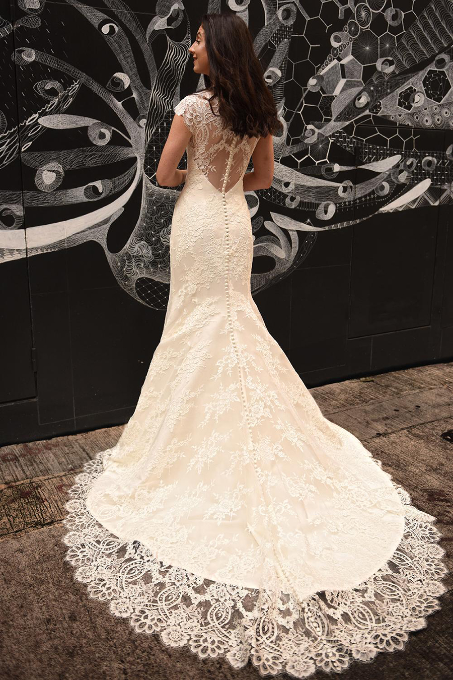 Augusta Jones Channing Illusion Lace Back Wedding Dress