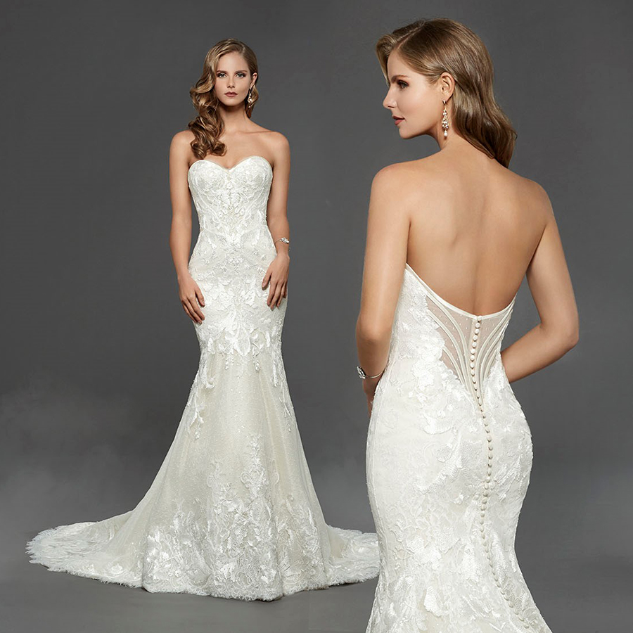 Matthew Christopher - Claire Lace and Sequin Wedding Dress