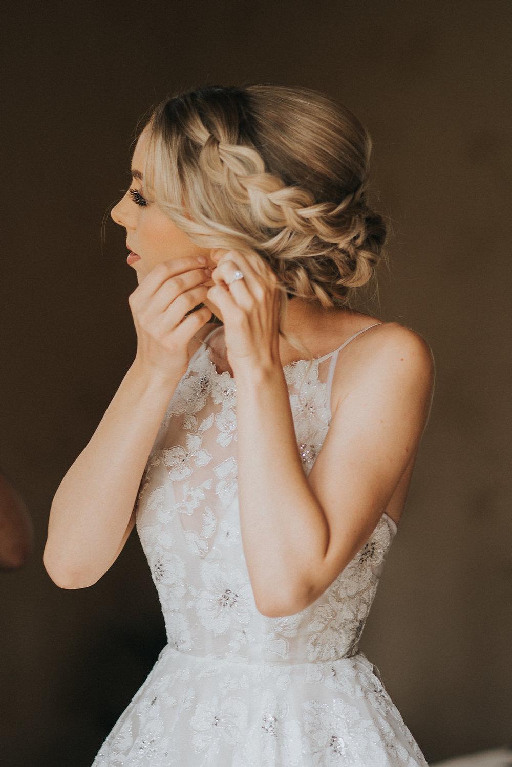 Romantic Braided Bridal Hairstyle