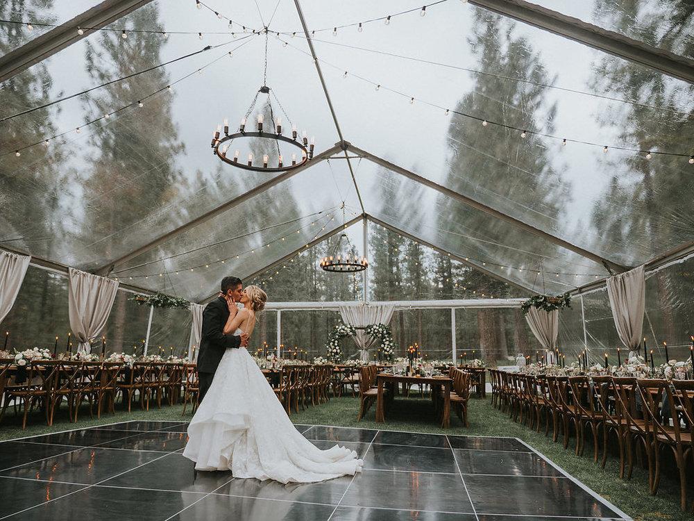 Glam Adventure Wedding Reception with a Modern Princess Wedding Dress