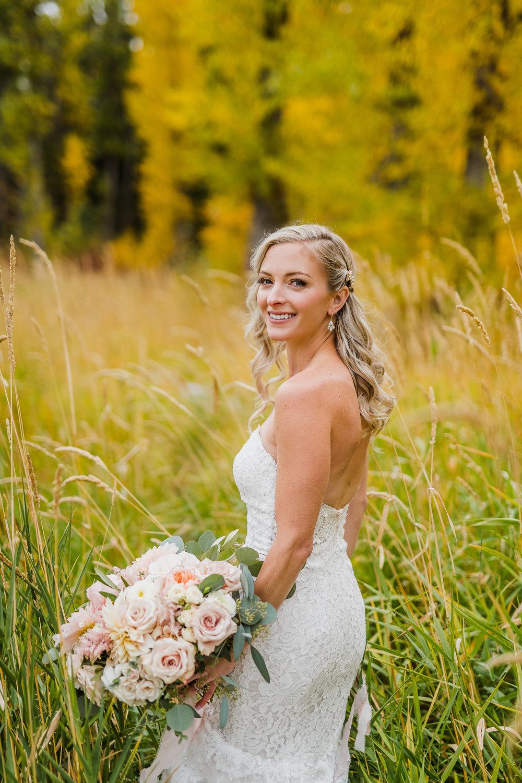 Montana Mountain Wedding with an Allison Webb Gown