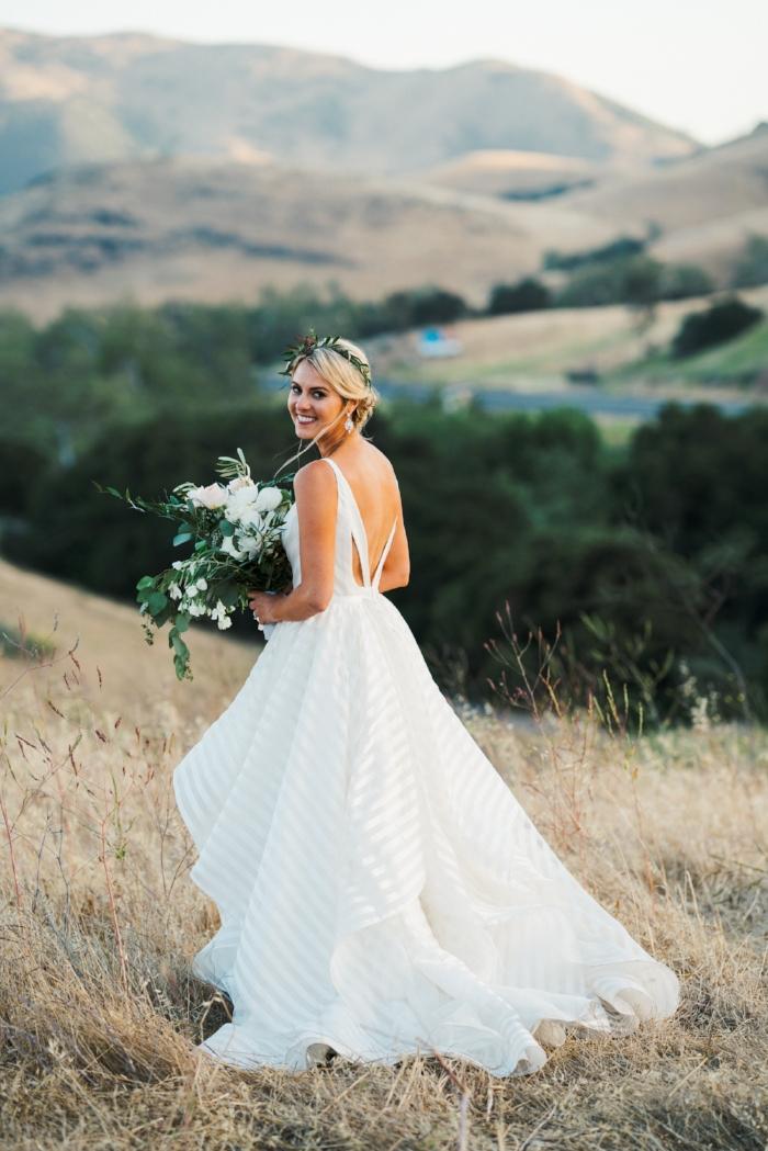 Rustic Chic Bride in Hayley Paige Decklyn Dress