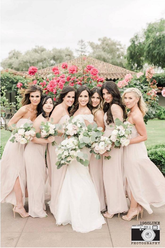 Elegant Neutral Wedding with Blush Bridesmaid Dresses