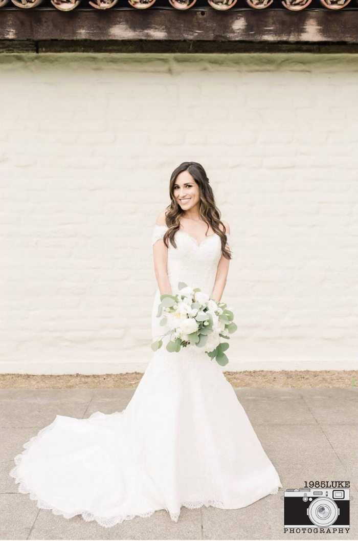 Stunning Lace Fit to Flare Wedding Dress by Matthew Christopher