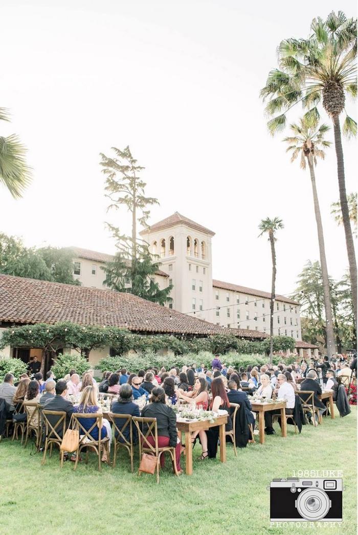 California Mission Wedding Reception