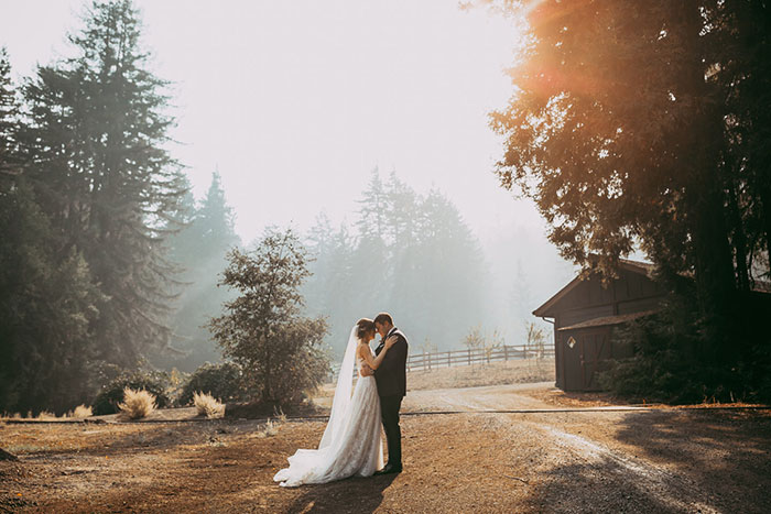 Romantic Nestldown Wedding in the Santa Cruz Mountains