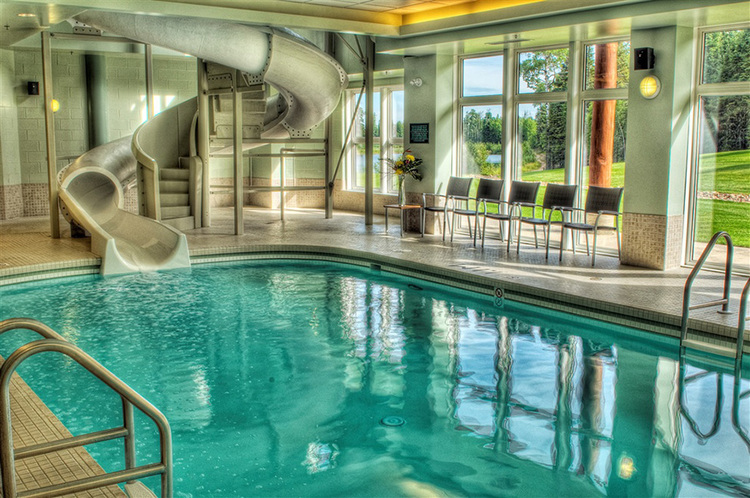 indoor pool and hot tub with a slide. SWIMMING Indoor Pool And Hot Tub With A Slide