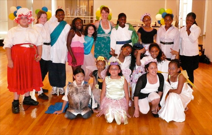 CFS Alum & Theater Teacher, Reba Czarnecki, leading a summer youth Shakespeare program