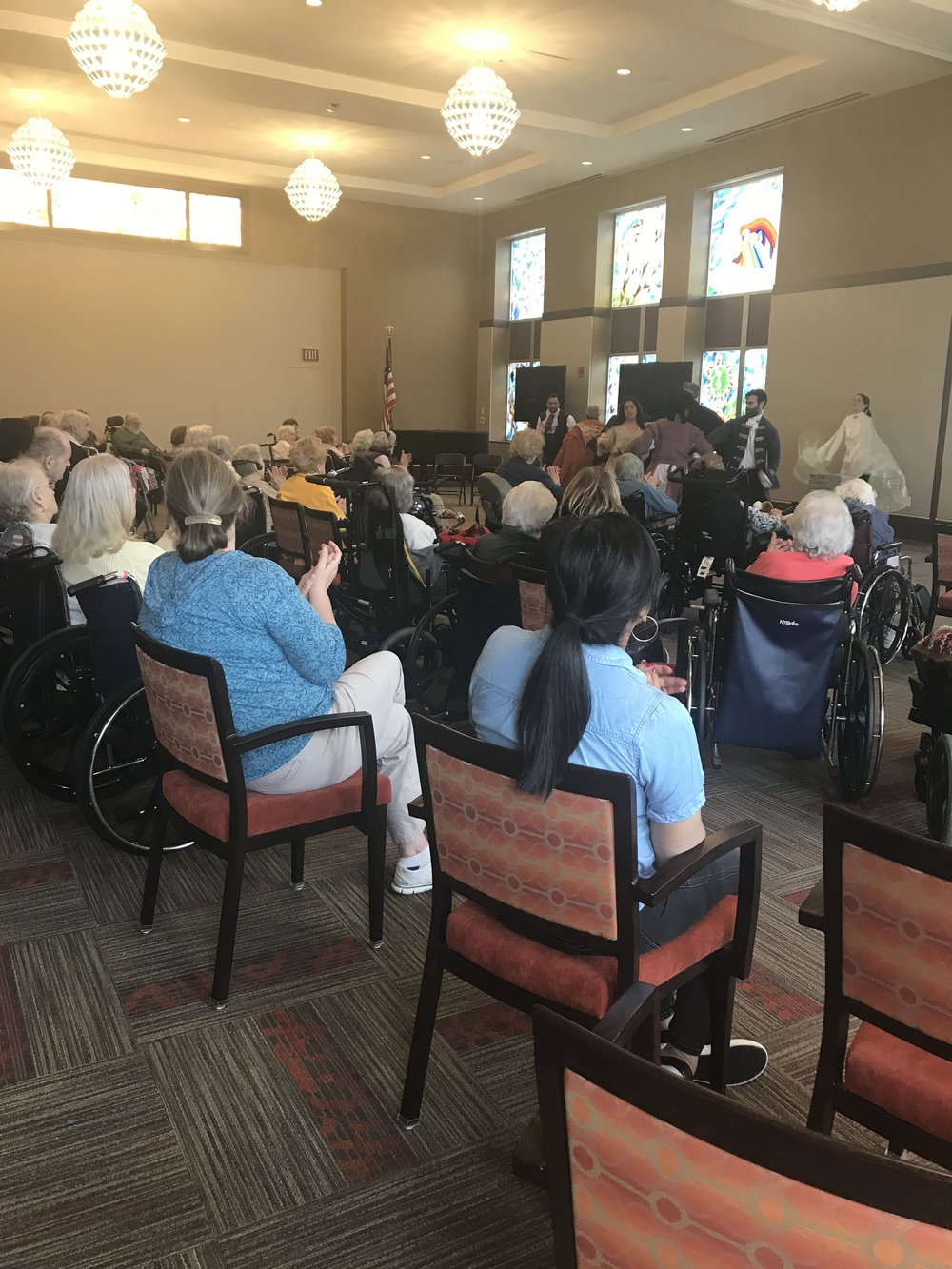 Dandelion's BRIDGE Troupe visits the Jewish Home for the Elderly