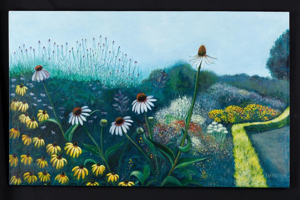 "Spring At Kew Gardens  30""x48"" Acrylic SOLD"