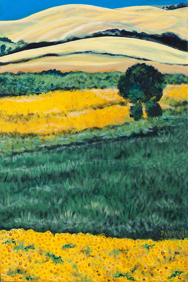 """Summers End Tuscany 24""""x36"""" Acrylic $650.00"""