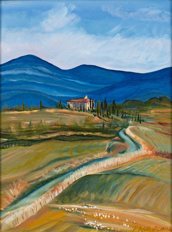 """Tuscan Valley 16""""x24"""" Oil SOLD"""