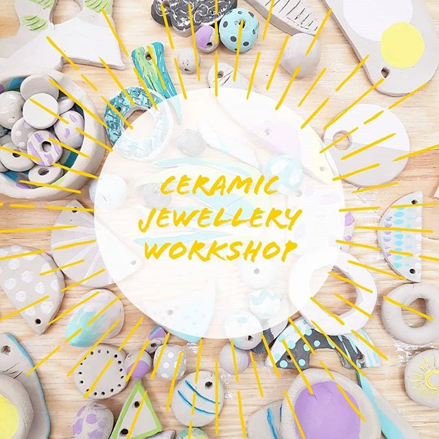 Ceramic jewellery workshop coming up soon! October 3rd with @hinklevillehandmade.🎉 Link in bio to join!! 🤸