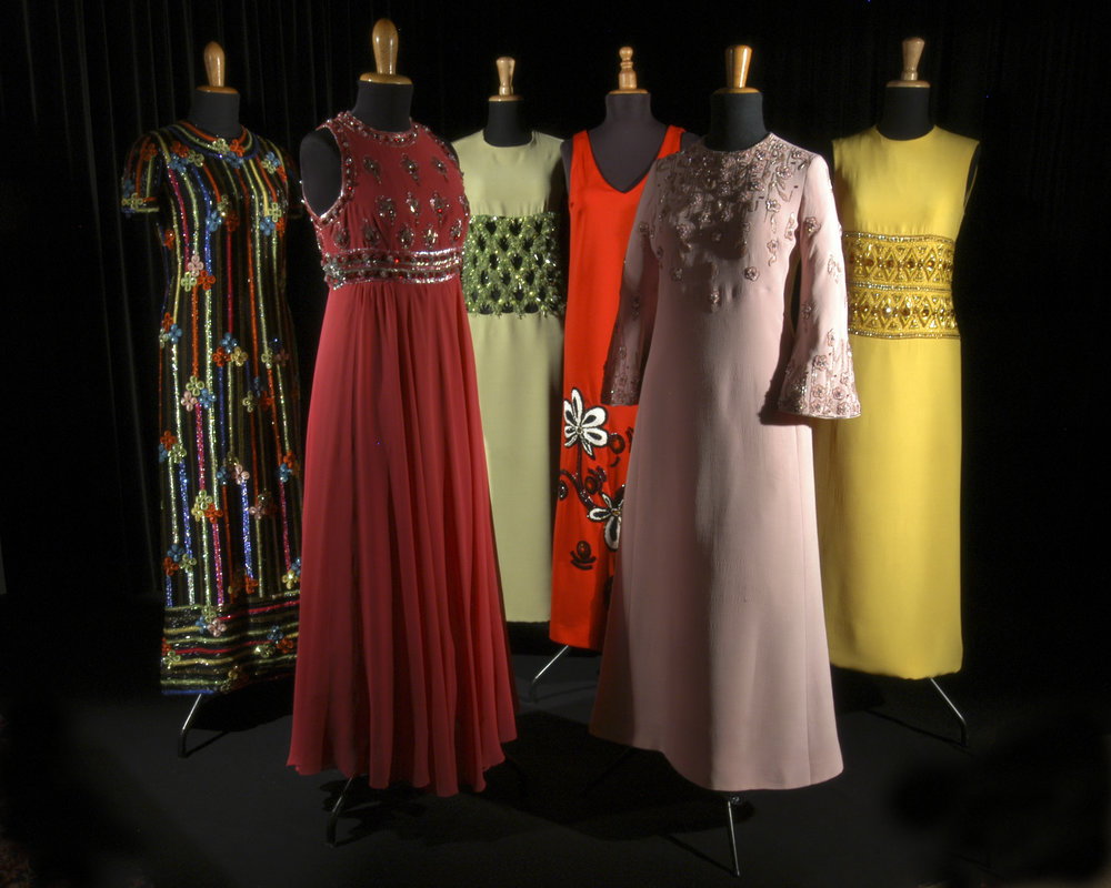 1970s embroidered evening gowns. Annamode. Courtesy Fondazione Annamode