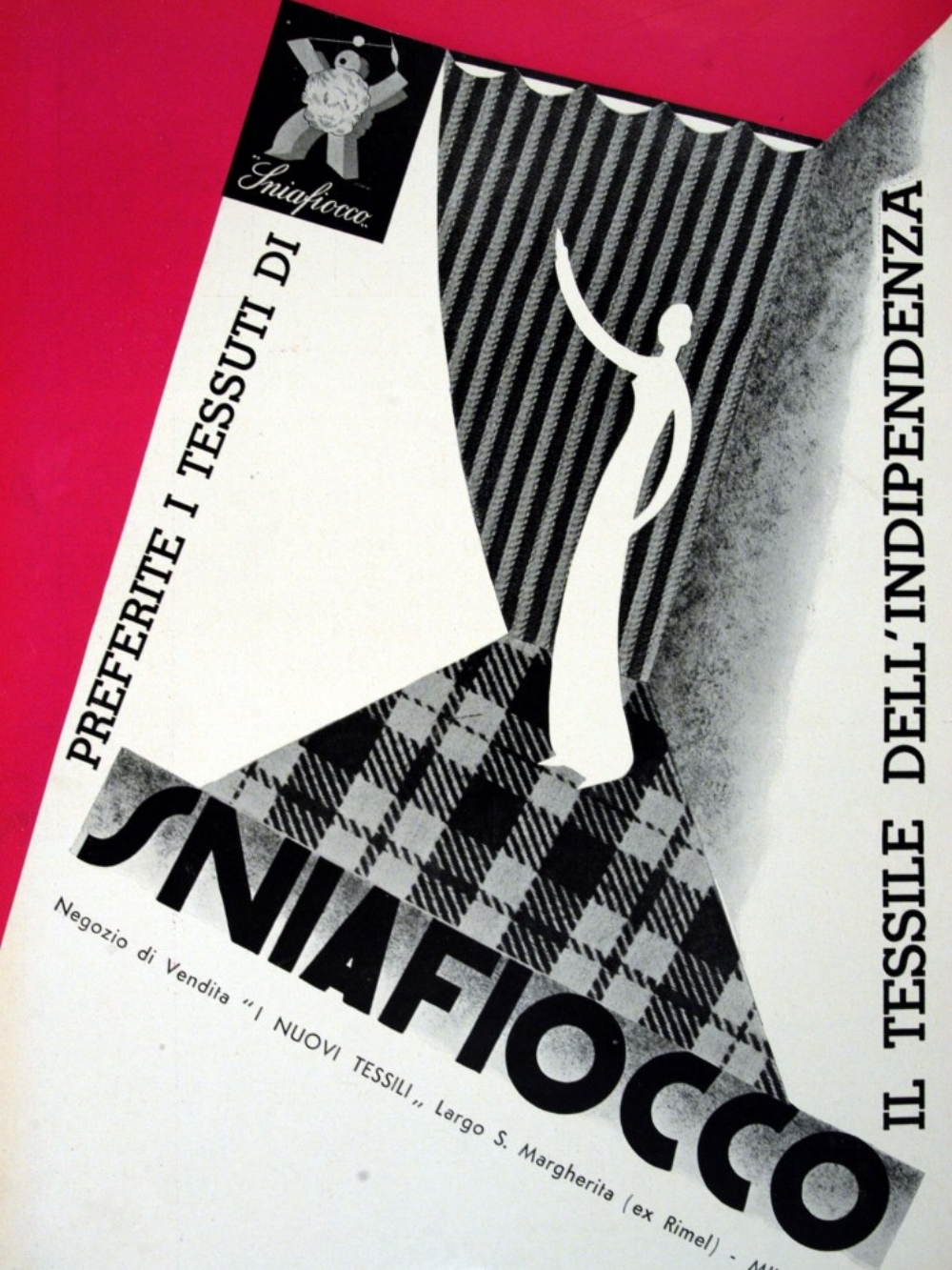 SniaFiocco, The Textile of Independence. From Lidel, June 1933, Biblioteca Nazionale, Rome.