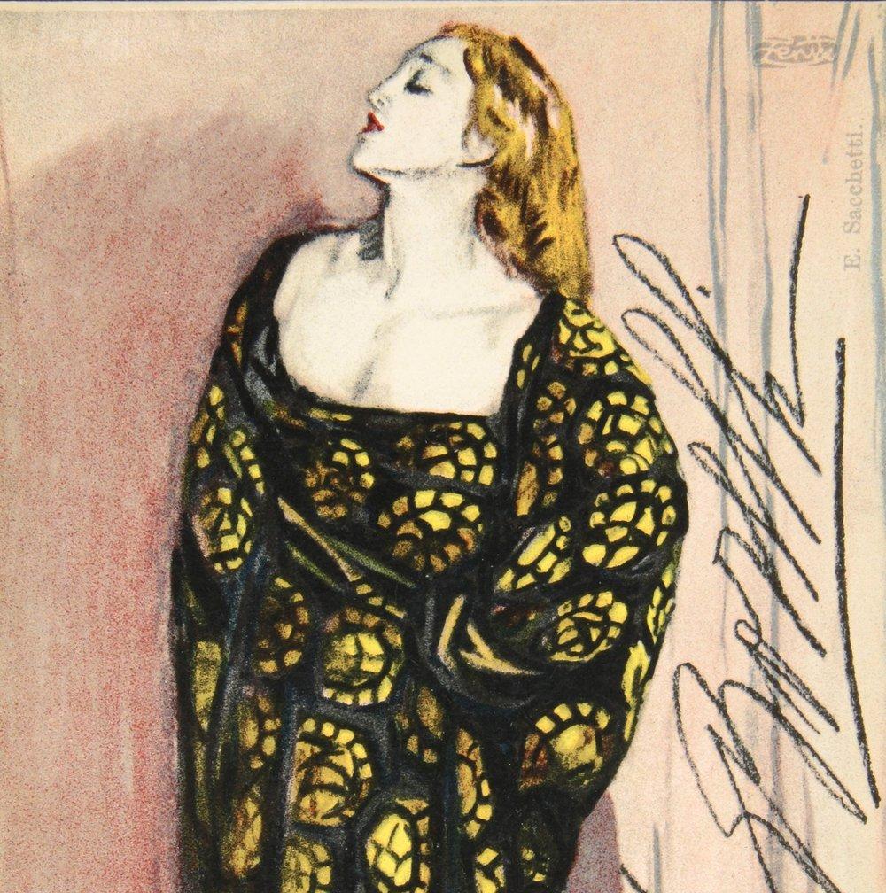 Lyda Borelli, Postcard, Museo Nazionale del Cinema di Torino