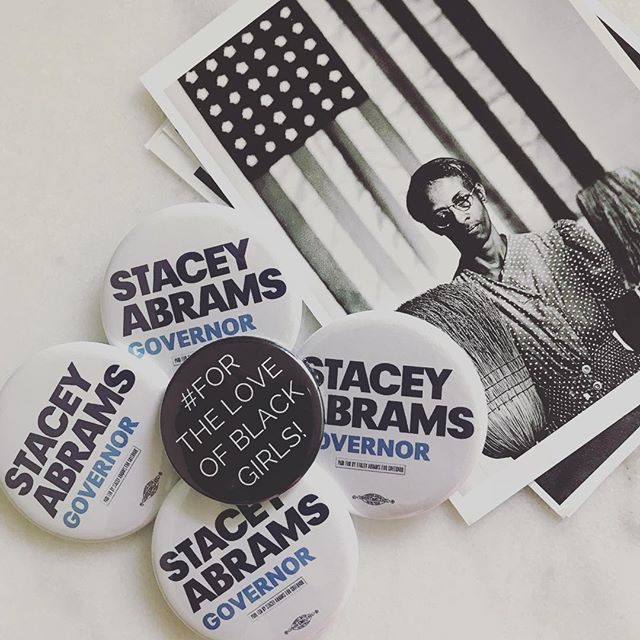 I'm not a Georgia resident, but I understand how high the stakes are. Go @staceyabrams, go 🏃🏾‍♀️! . . Show your support! Make a contribution: staceyabrams.com. Link in her bio @staceyabrams. . . Do it #ForTheLoveOfBlackGirls! - Shaleah . . #StaceyAbrams #TeamAbrams