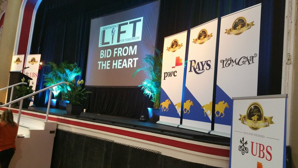 Working with the best Nonprofits & Charities in the Tampa, St Pete, Clearwater and Orlando area. Laptop & Projection Screens shown in photo