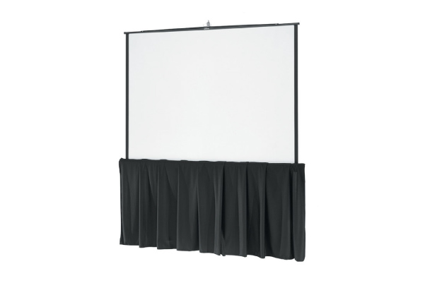 Projection Screen Rentals - Visual Advantage carries a full range of projection screen rentals for any size group or event. We carry smaller tripod screens, all the way to large event screens with pipe & drape to go around. The screen size you need most likely depends on the number of people needing to see it. For more info or help deciding, please contact us.