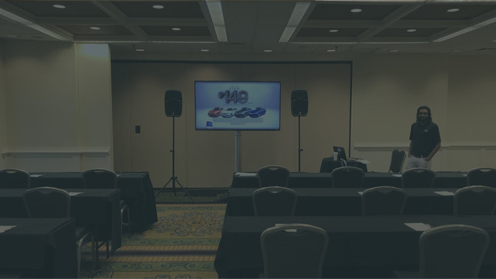 SEMINARS OR TRAININGS - Large or small, Visual Advantage can provide the sound and video for everyone to hear and see.