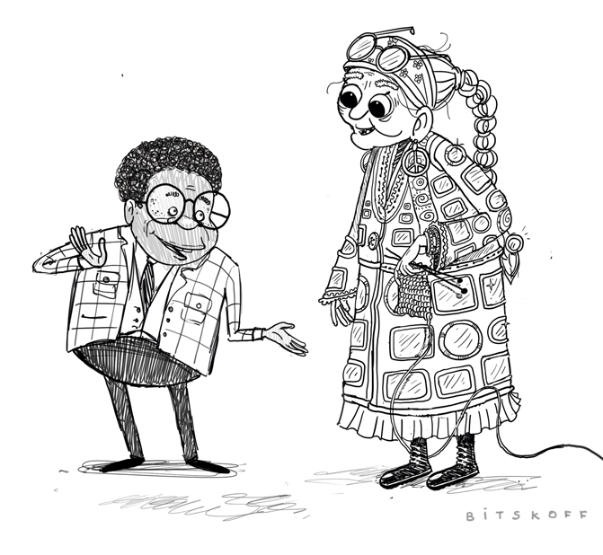 Librarian and Hippie Granny