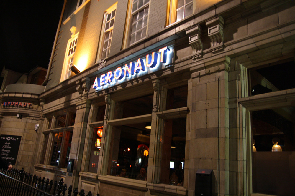 The outside of The Aeronaut pub, Acton, Ealing
