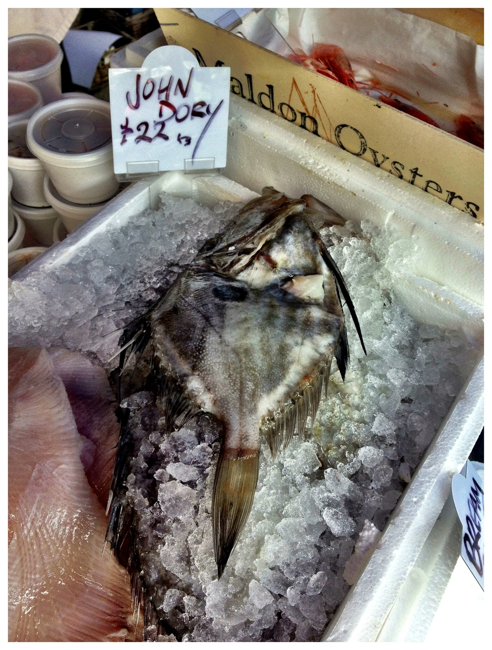 Fish sold at Brentford Market