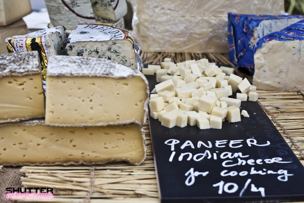 Cheese sold at Brentford Market