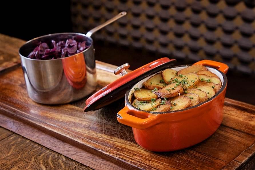 Plate of food at The Duke of Kent pub, Pitshanger Lane, Ealing