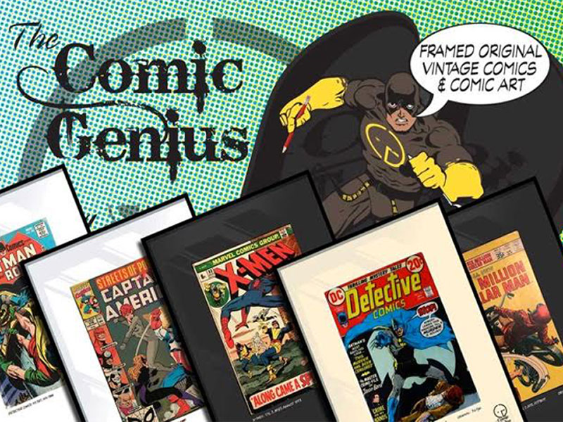 The Comic Genius framed comics sold at all Original, Ealing