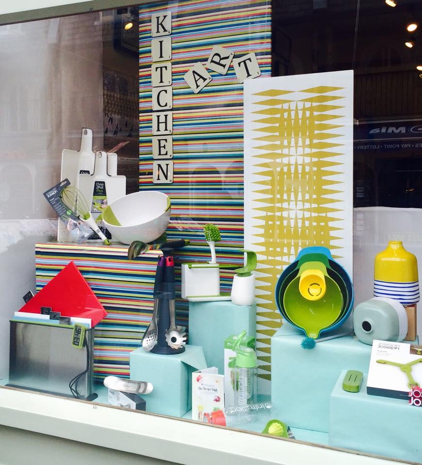 Rumbles window display Ealing