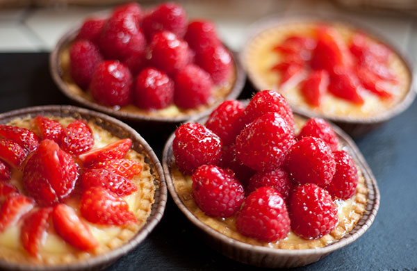 Fruit topped tarts from Cafe Zee, Ealing