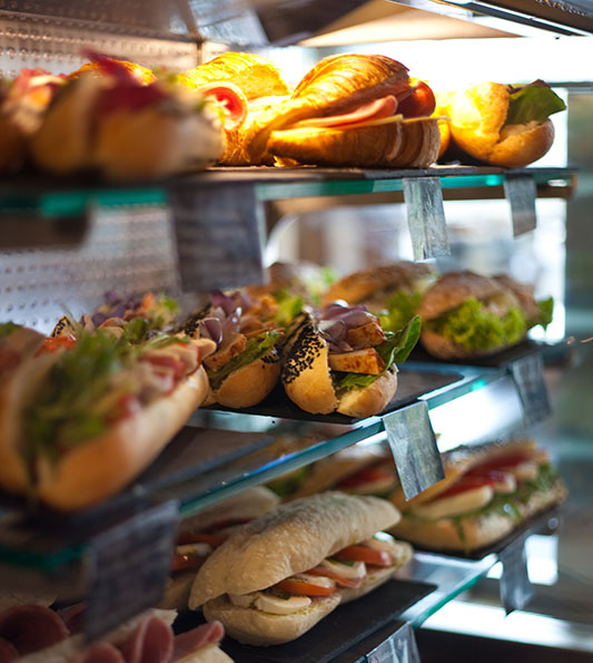 A selection of sandwiches from Cafe Zee, Ealing